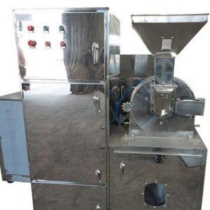 Pulverizing machine that powders the milk reduced ashwagandha
